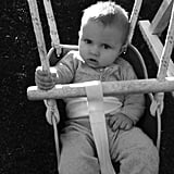 Jessica Simpson shared a sweet photo of baby Ace swinging the day away. Source: Twitter user JessicaSimpson