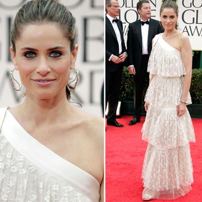 Amanda Peet Wears White Tiered Marc Jacobs to the 2012 Golden Globes