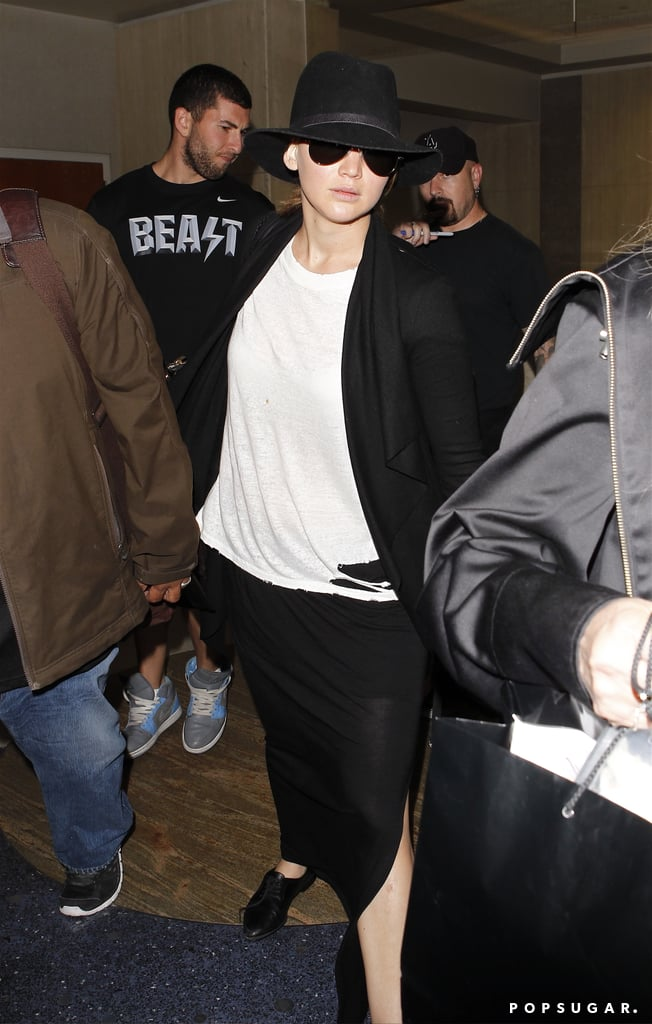 Jennifer Lawrence arrived in LAX.