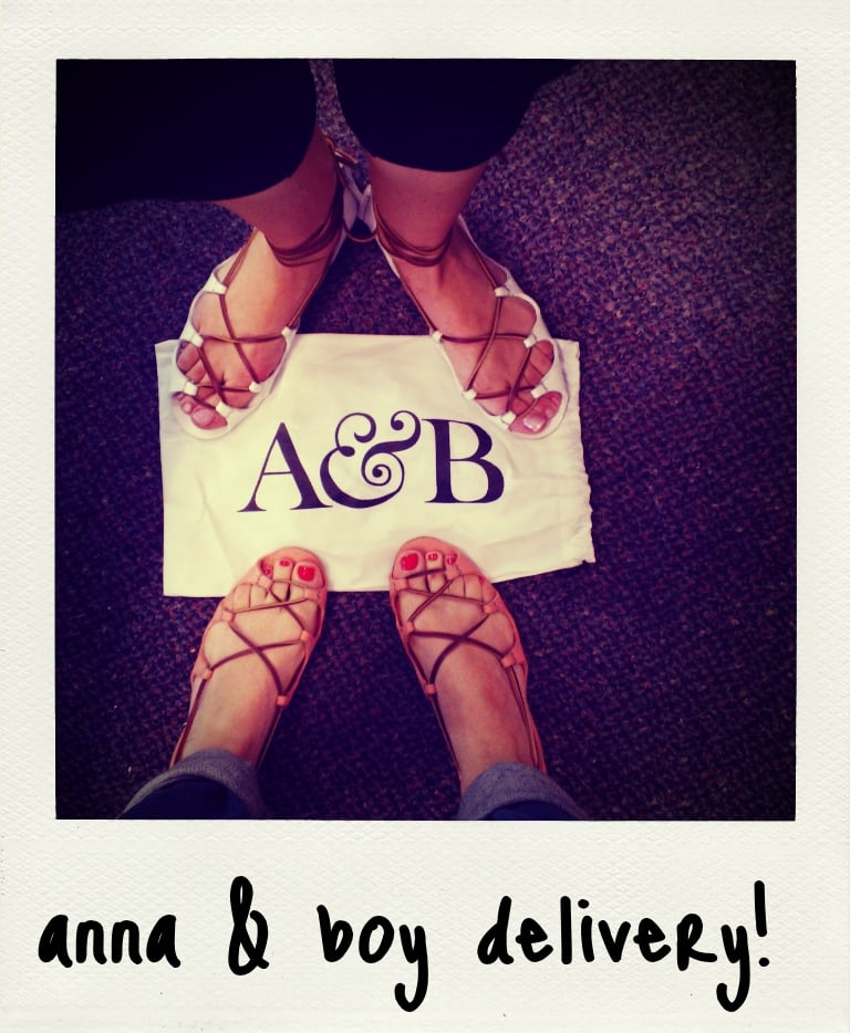 Sandal snap! Ali and Marisa rocking their new Anna & Boy Grecian sandals.
