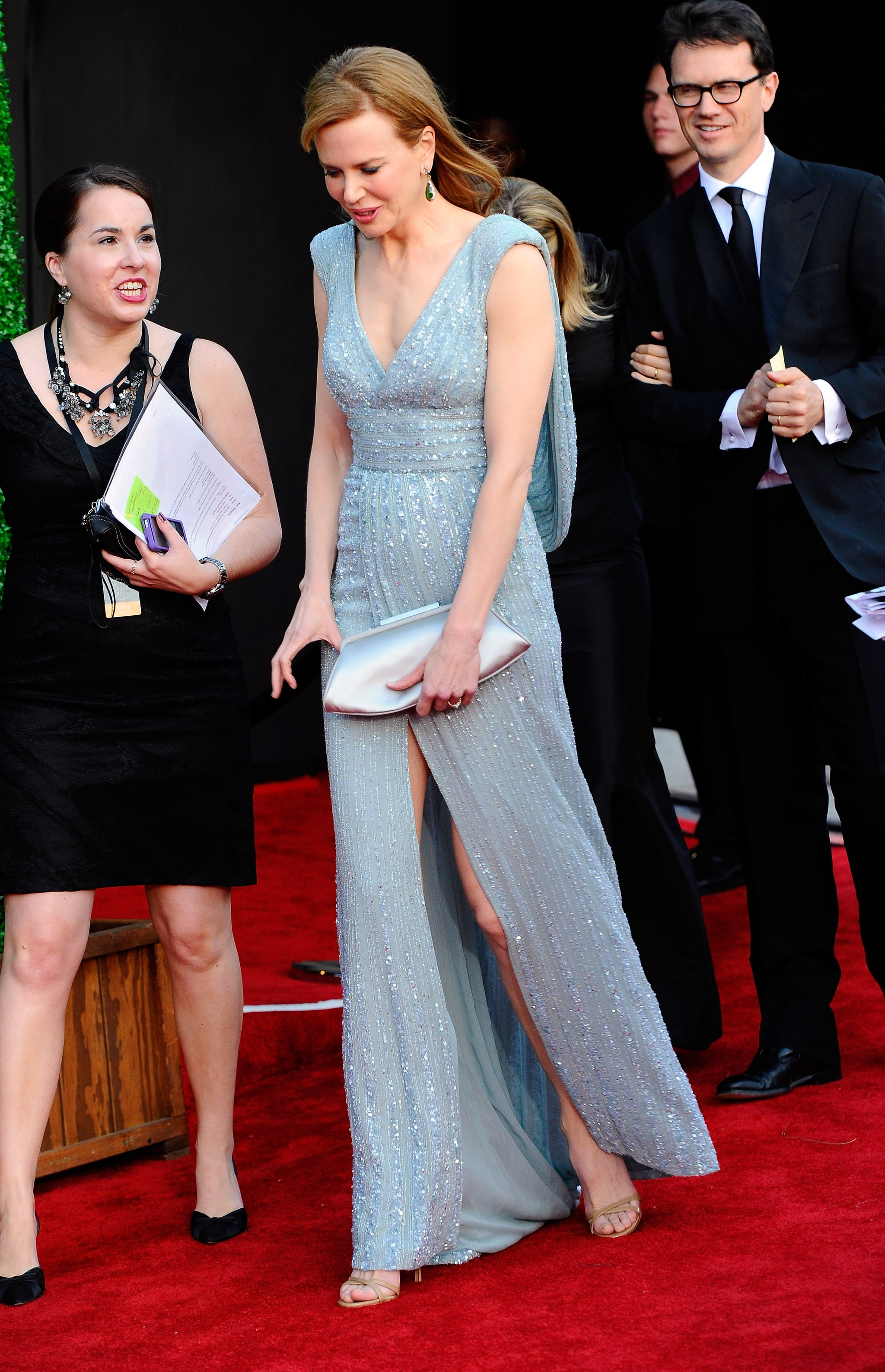 Nicole Kidman in blue at the BAFTA Brits to Watch event in LA.