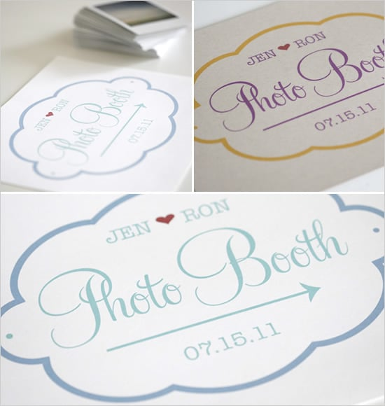 Bubbly Photo-Booth Sign