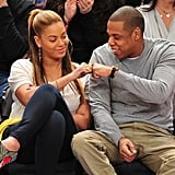 They stepped out for the first time as parents for a Nets vs. Knicks game at Madison Square Garden in February 2012.