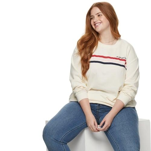 POPSUGAR Plus Size Graphic Sweatshirt