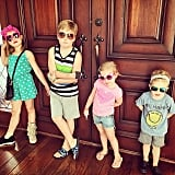 All four of Tori Spelling and Dean McDermott's kids wished their dad a stylish and happy Father's Day.