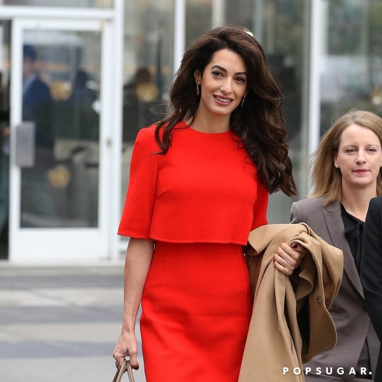 Amal Clooney Red Dress September 2018