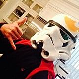 Freddie Prinze Jr. as a Stormtrooper