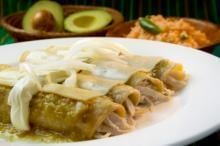 Easy, Make Ahead Chicken Enchiladas with Green Sauce