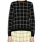 Valentino Windowpane Boxy Crewneck Sweater