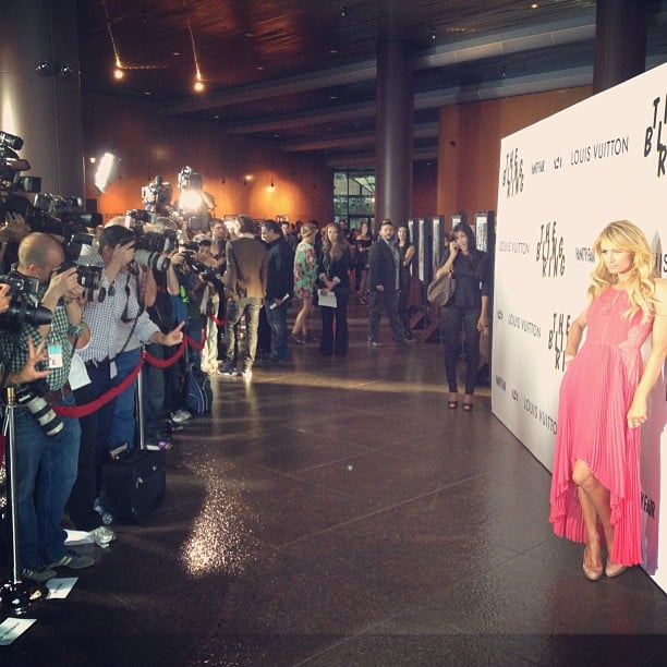 Paris Hilton posed for photos at the LA premiere of The Bling Ring. Source: Instagram user parishilton