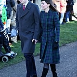 Kate Middleton and Prince William bundled up for Christmas Day services.