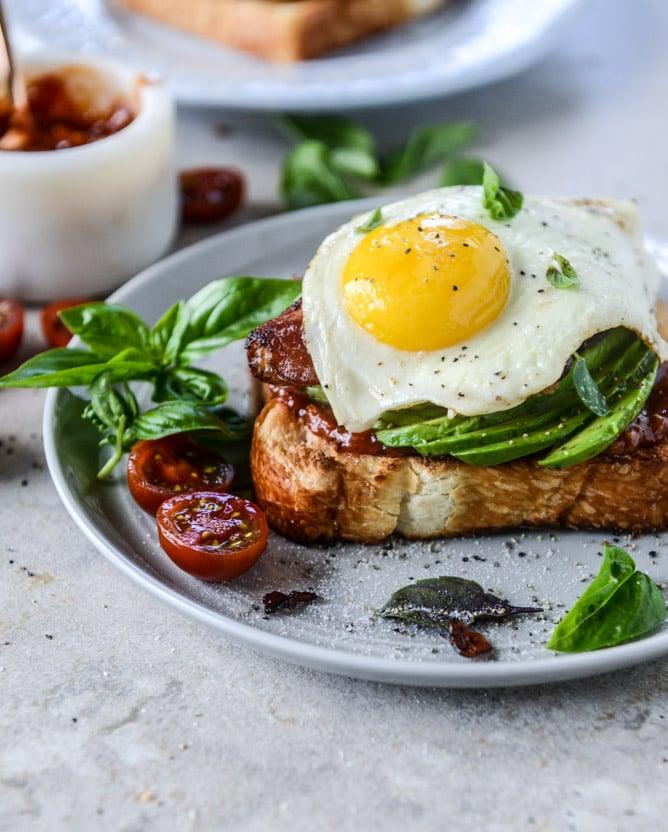 Bacon and Eggs Avocado Toast