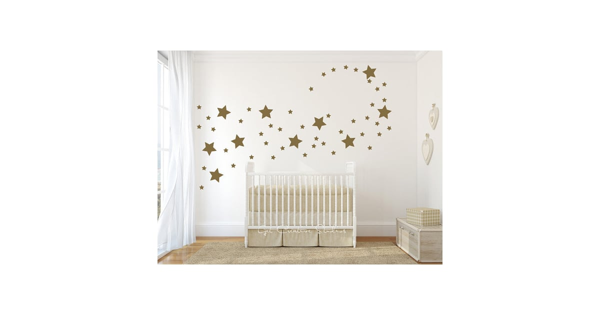 Gold Star Wall Decor: Metallic Baby Products