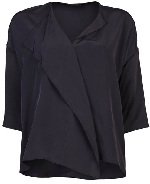 The Row's Nesset top ($950) is a serious investment piece, but a sophisticated play on the trend with a minimalist cut and go-with-everything midnight blue.