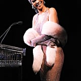 Rihanna laughed as she accepted her award.