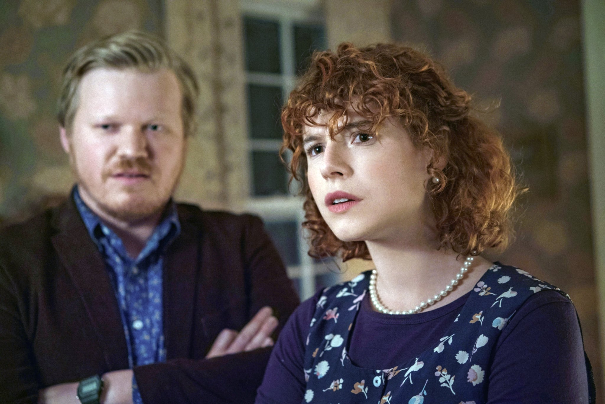 I'M THINKING OF ENDING THINGS, from left: Jesse Plemons, Jessie Buckley, 2020. ph: Mary Cybulski/  Netflix / Courtesy Everett Collection