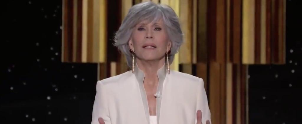 Jane Fonda's Speech at the 2021 Golden Globe Awards   Video