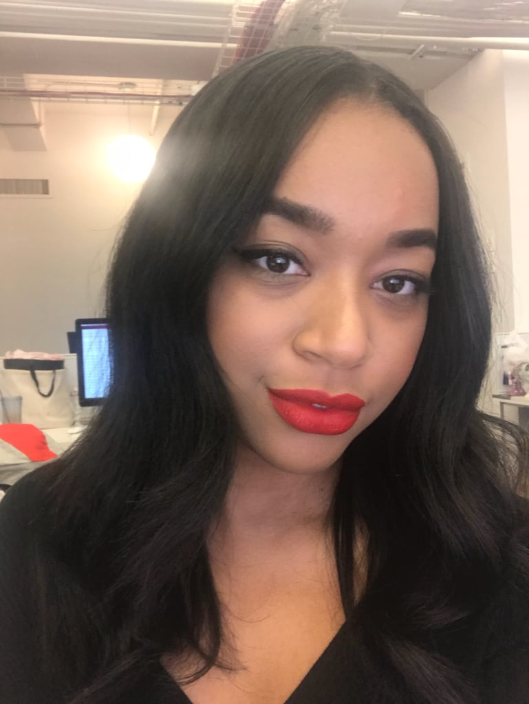 """When it comes to red lipstick, my motto is go bold or go home. Stunna goes bold AF, and I am completely obsessed. The colour has a fire-engine crimson payoff on my complexion that made me feel sexy as hell. I love that it is super opaque and that you only need one coat for full coverage. I also really love the unique applicator that lets you line your lips and colour them in at the same time. I'll definitely be putting this stunna on for date nights, holiday parties, and when my beauty look just needs some oomph."" — Aimee"