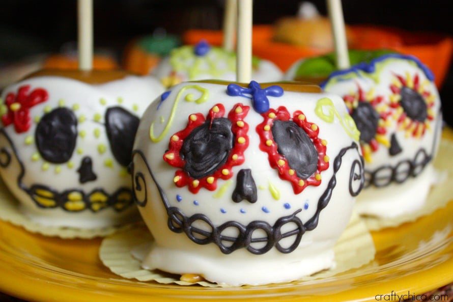 Sugar Skull Candy Apples