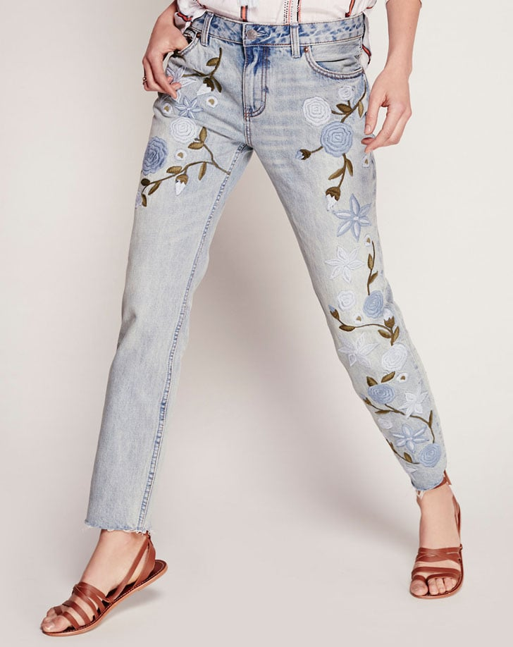 Free People 'Shower Me With Flowers' Denim Jeans ($168)