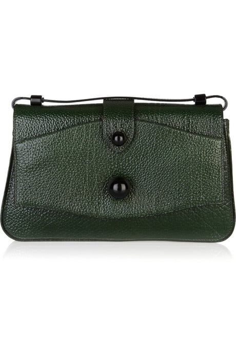 We're in lust with this retro-chic forest green clutch.  Marc Jacobs Sofia Leather Clutch ($1,495)