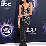 Jameela Jamil at the 2019 American Music Awards
