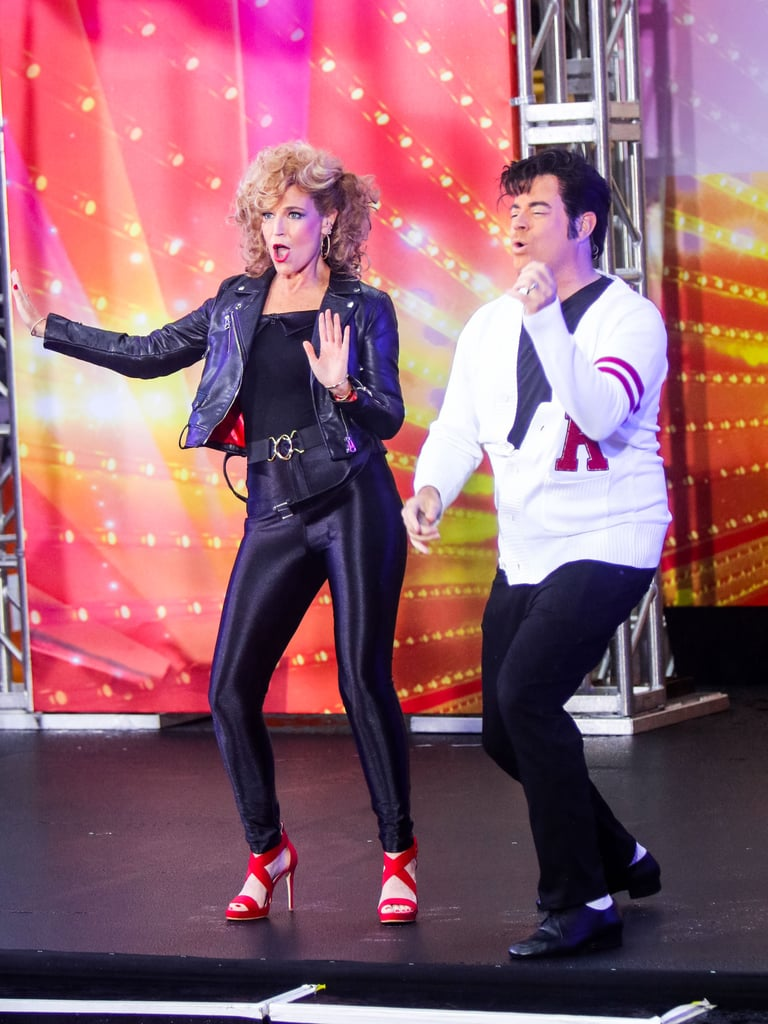 Carson Daly Halloween Costume 2020 Savannah Guthrie and Carson Daly as Sandy and Danny From Grease