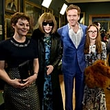 Helen McCrory, Anna Wintour, and Damian Lewis at Erdem Fall 2019