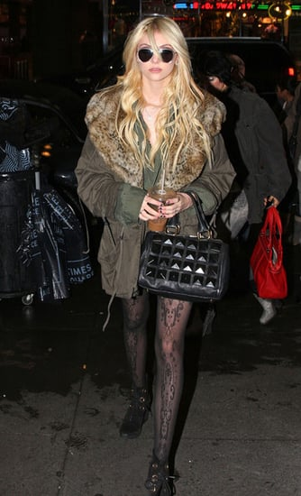 Taylor Momsen on her way to the MTV Studio