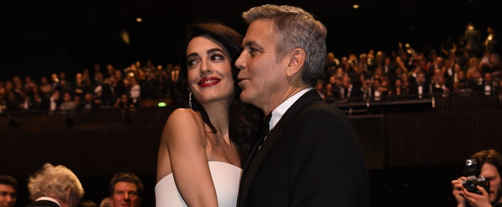 Amal Clooney Officially Debuts Her Baby Bump During a Stunning Date Night With George