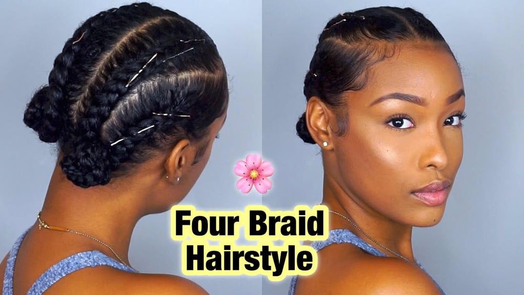 Braided Updo Styles For Natural Hair: Cool Braids For Girls