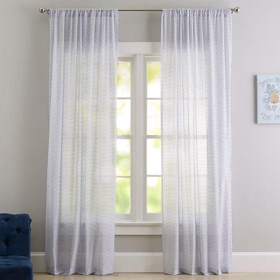 Textured Dot Sheer Curtain