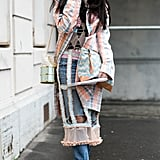 Susie Bubble's always-quirky aesthetic was embodied in this cut-out, plaid coat. Cool, right?