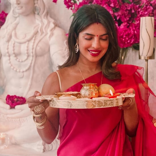Priyanka Chopra Jonas's Red Sari to Celebrate Nick Jonas