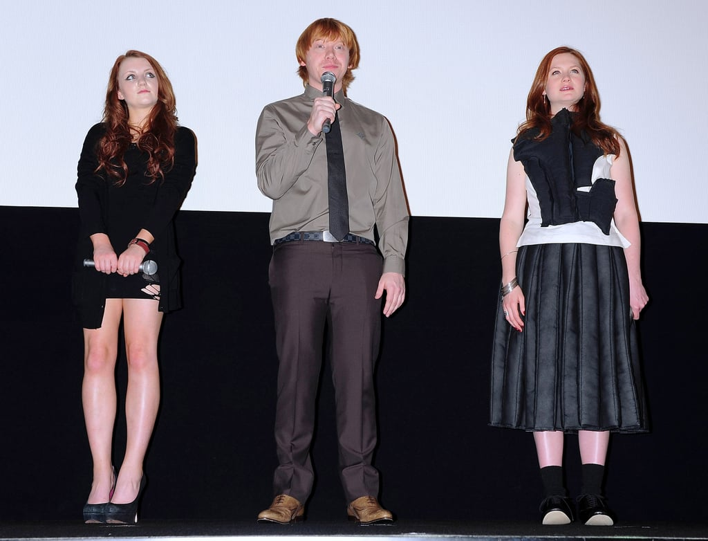 Rupert Grint, Bonnie Wright and Evanna Lynch in Japan