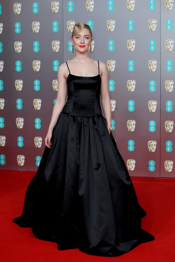Saoirse Ronan's Sustainable Black Gucci Gown at BAFTAs 2020