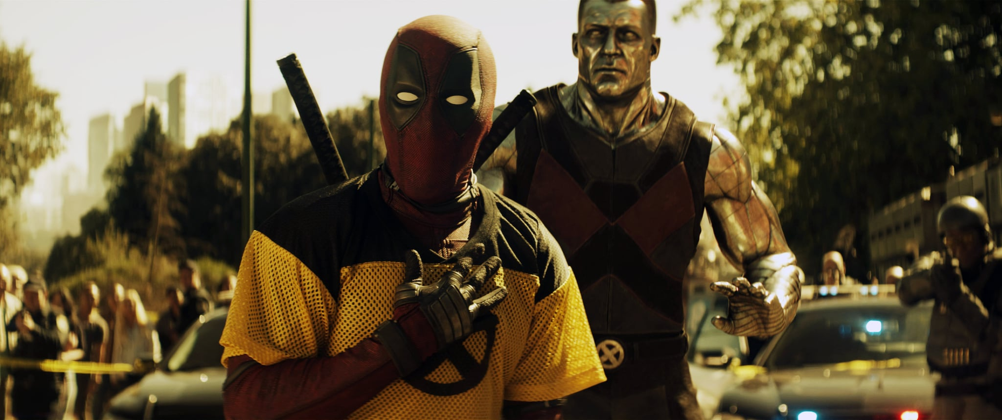 DEADPOOL 2, l-r: Ryan Reynolds as Deadpool, Stefan Kapicic as Colossus, 2018. TM & Copyright  20th Century Fox Film Corp. All rights reserved./courtesy Everett Collection