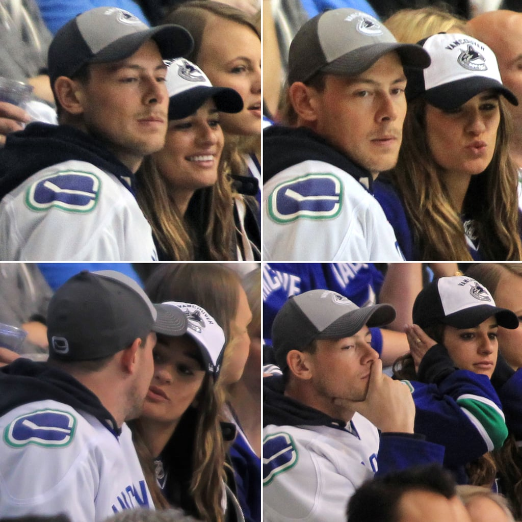 Lea Michele and Cory Monteith at NHL Playoffs | Photos