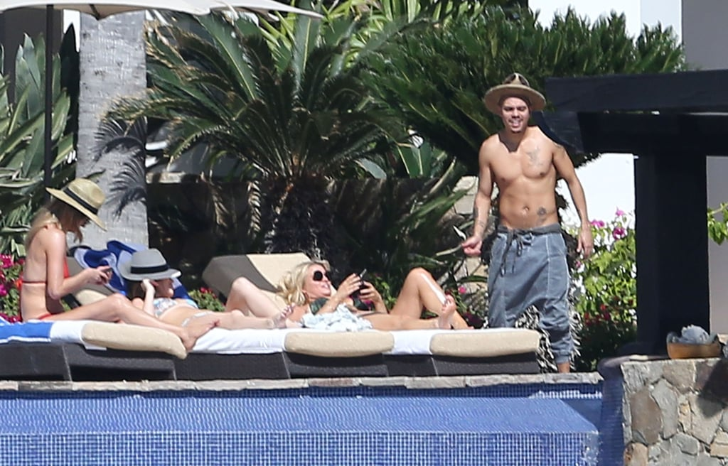 jessica simpson wearing a bikini by the pool in mexico 2016 popsugar celebrity. Black Bedroom Furniture Sets. Home Design Ideas