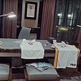 He Has Kobe Bryant Jerseys on This Table — and an Airplane Statue in the Corner