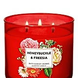 Bath and Body Works Honeysuckle & Freesia 3-Wick Candle