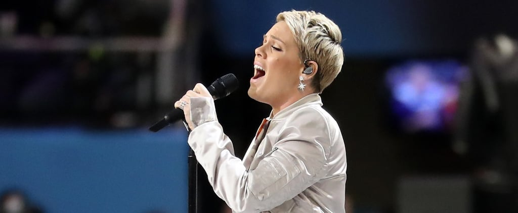 Pink Sings the National Anthem at the Super Bowl 2018