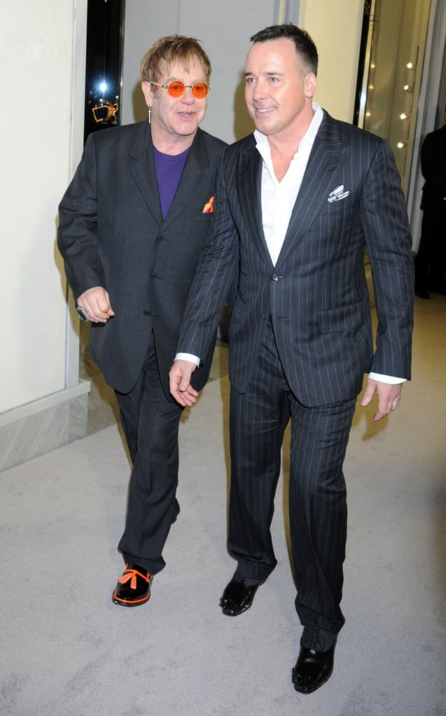 Elton John and David Furnish arrived at the event together.