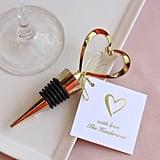 Gold Heart Bottle Stopper