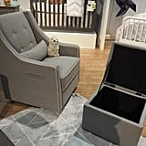 DaVinci Owen Glider With Storage Ottoman
