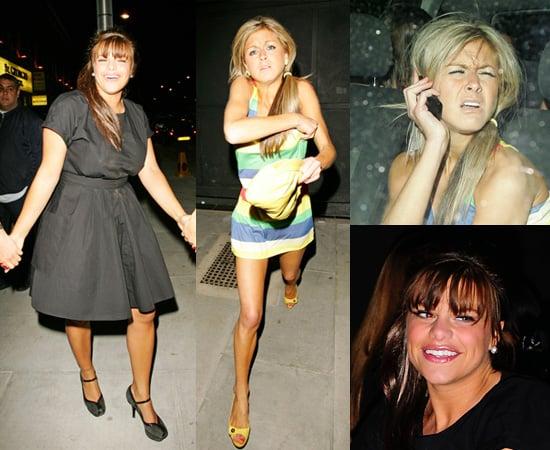 Jade Goody and Nikki Grahame at Faces Nightclub in Essex