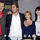 The cast of Brokeback Mountain, Jake Gyllenhaal, Anne Hathaway, Michelle Williams, and Heath Ledger, saddled up and headed north for 2005's Toronto International Film Festival.