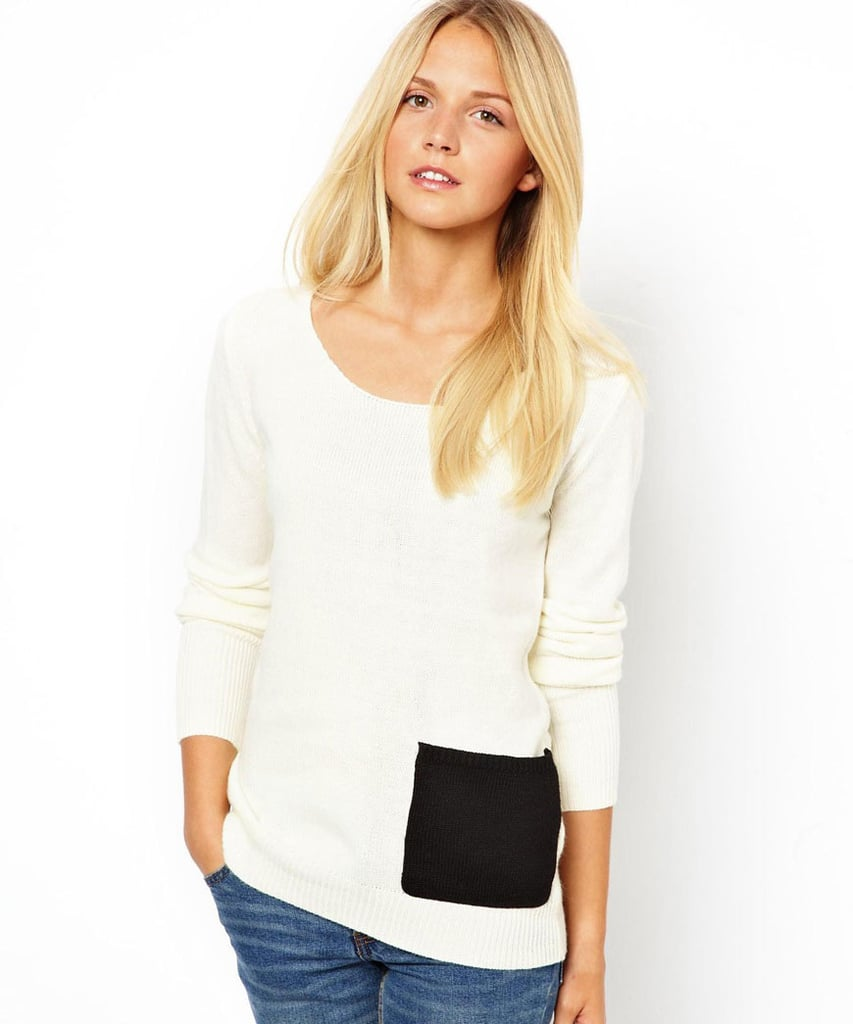 We love the cool addition of a pocket on this Vila knit sweater ($27).