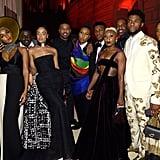 Pictured: Janelle Monae, Daniel Kaluuya, Tessa Thompson, Michael B. Jordan, Lena Waithe, John Boyega, Cynthia Erivo, Chadwick Boseman and Letitia Wright