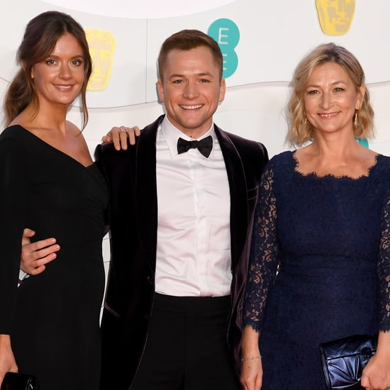 Taron Egerton Brought Mum, Girlfriend to 2020 BAFTAs